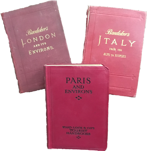 collection of 3 baedekers booklets