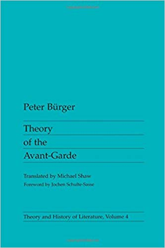 Cover of Theory of the Avant Garde