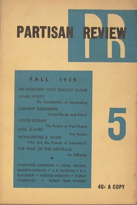 cover of Partisan Review