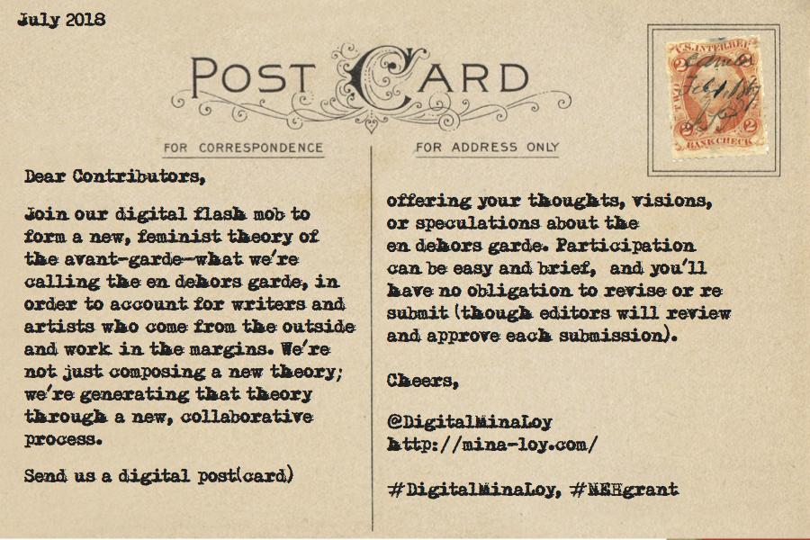 Mina Loy Postcard 4