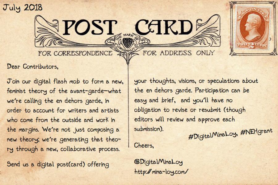 Mina Loy Postcard 6