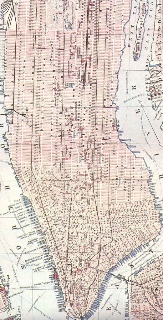 Baedeker map of New York