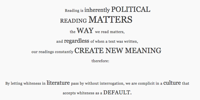 excerpt from Manifesto for Reading Whiteness